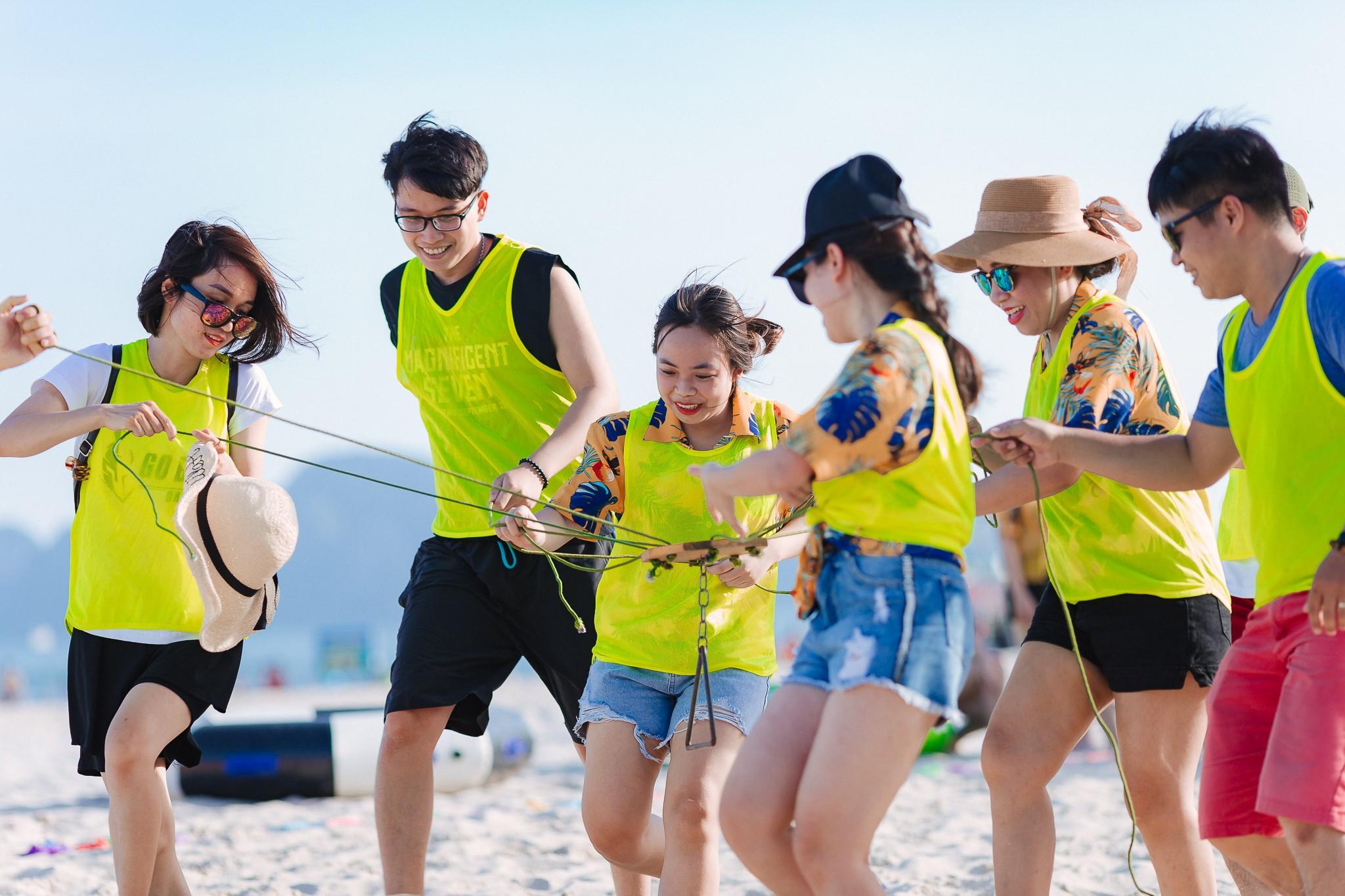 trò chơi team building trên biển 3