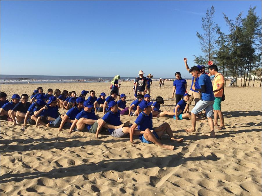 trò chơi team building trên biển 5