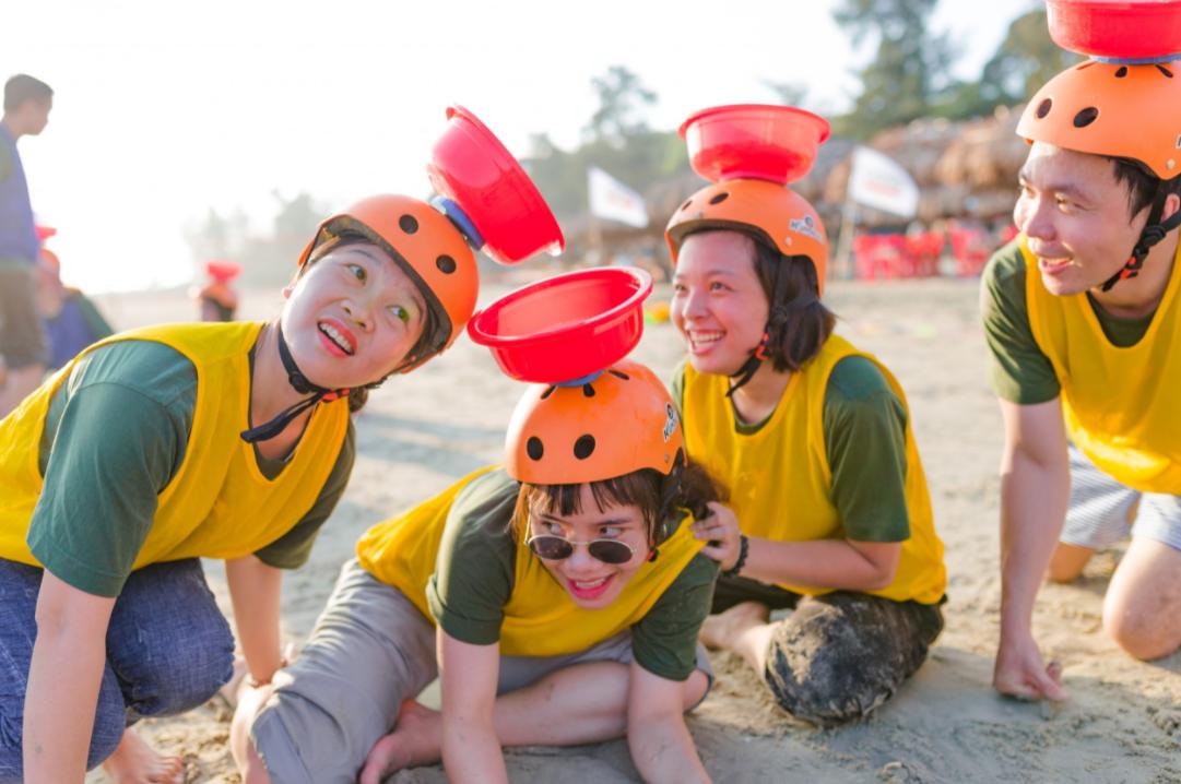 Trò chơi team building bãi biển 1