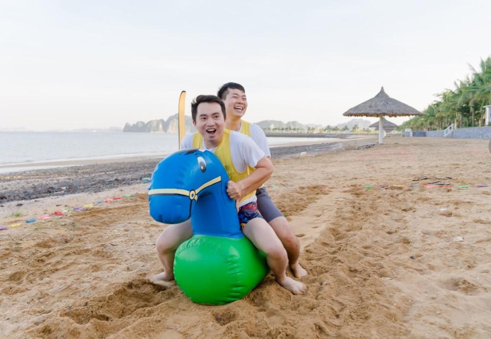 Trò chơi teambuilding bãi biển