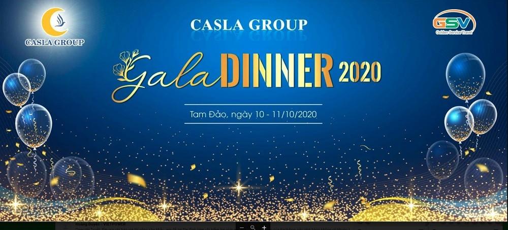 Mẫu backdrop Gala Dinner sáng tạo mới lạ nhất 2021 - Luxtour 6