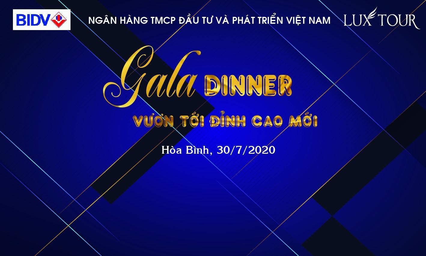 Mẫu backdrop Gala Dinner sáng tạo mới lạ nhất 2021 - Luxtour 9