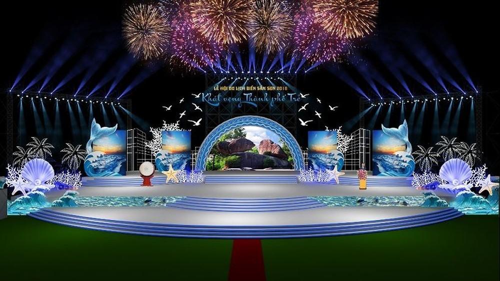 Thiết kế sân khấu sự kiện - Luxtour 2