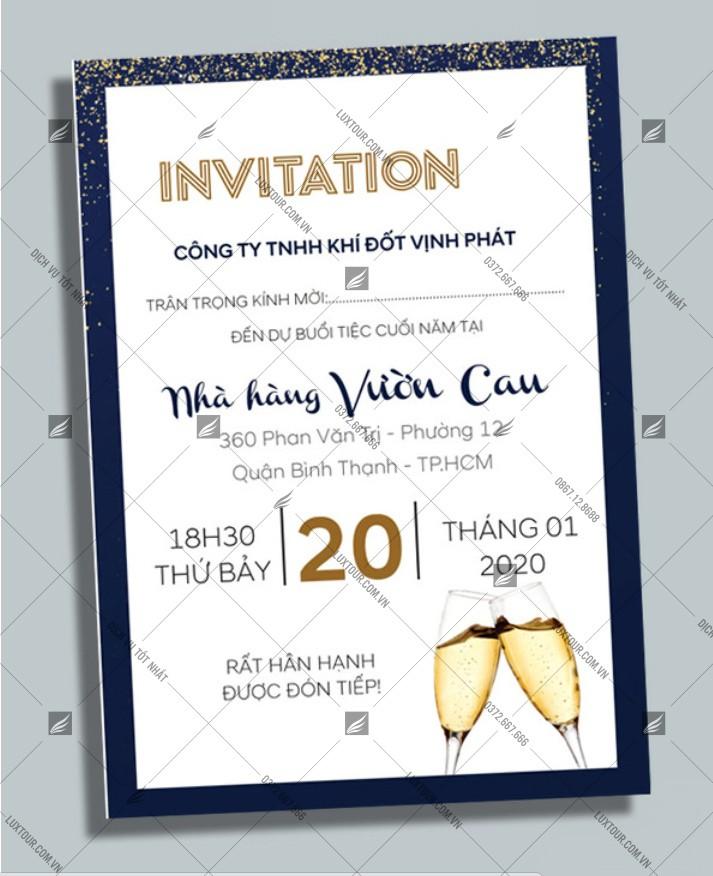 Mẫu thiết kế thiệp mời tất niên - Luxtour 11