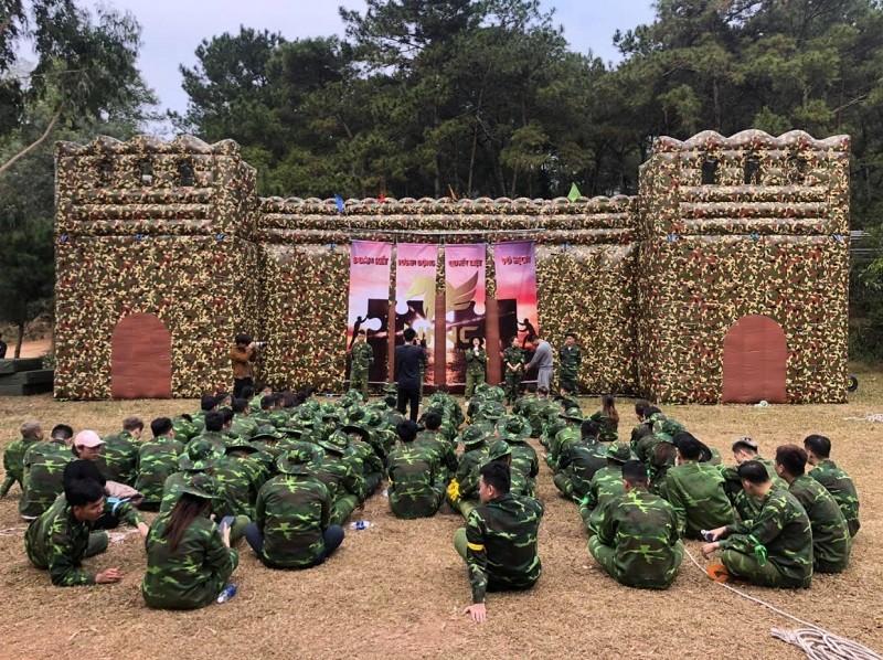 Trò chơi Team Building quân đội - Luxtour 4